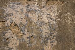 Grovt gammalt och att smula väggbakgrundstextur royaltyfria bilder