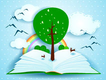 Grow. Concept of growth and knowledge, illustration Stock Images