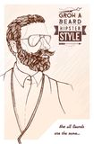 Grow a beard Stock Image