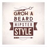 Grow a beard Royalty Free Stock Photography