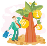 Grow big money stock photography