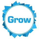 Grow Blue Random Shapes Circle Stock Photo