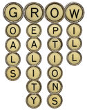 Grow crossword Royalty Free Stock Images