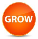 Grow elegant orange round button. Grow isolated on elegant orange round button abstract illustration Royalty Free Stock Photos