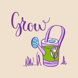Grow garden lettering Royalty Free Stock Photos