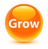 Grow glassy orange round button. Grow isolated on glassy orange round button abstract illustration Royalty Free Stock Photo
