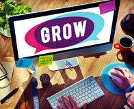 Grow Growth Development Improvement Change Concept.  Royalty Free Stock Photo