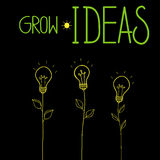 Grow ideas vector illustration Royalty Free Stock Photos