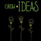 Grow ideas vector illustration. On black background Royalty Free Stock Photos