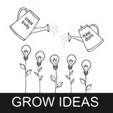 Grow ideas vector illustration Stock Photos