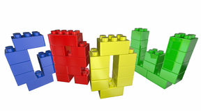 Grow Increase Improve Toy Blocks Word. 3d Illustration Royalty Free Stock Photography