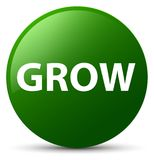 Grow green round button Royalty Free Stock Image