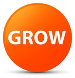 Grow orange round button Royalty Free Stock Photos