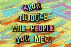 Grow through people you meet royalty free illustration