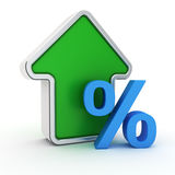 Grow of percent rate Royalty Free Stock Images