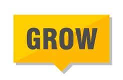 Grow price tag. Grow yellow square price tag Stock Photos