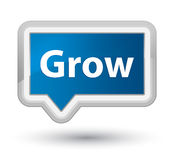 Grow prime blue banner button. Grow isolated on prime blue banner button abstract illustration Royalty Free Stock Photos