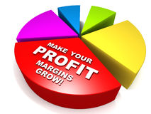 Grow profits Royalty Free Stock Images