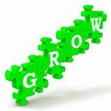 Grow Puzzle Shows Maturity And Growth. Grow Puzzle Shows Maturity, Growth And Improvement Royalty Free Stock Photos
