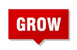 Grow price tag. Grow red square price tag Stock Photography