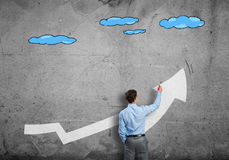Grow and success concept Stock Image