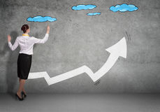 Grow and success concept Stock Images