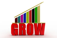 Grow up  bar chart graph Royalty Free Stock Photography