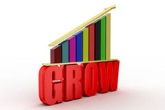 Grow up  bar chart graph Stock Images