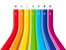 Grow up color pencil Royalty Free Stock Images