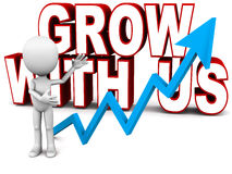 Grow with us Stock Photos
