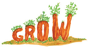 Grow Word Art Royalty Free Stock Photos