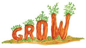 Grow Word Art Royalty Free Stock Photos