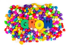 Grow word in colorful Stock Images