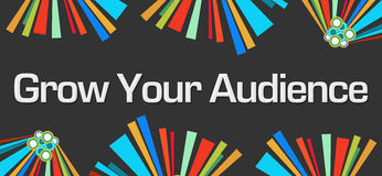 Grow Your Audience Dark Colorful Royalty Free Stock Photography