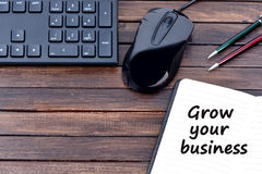 Grow your business words royalty free stock image