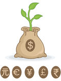 Grow your money Stock Photos