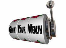 Grow Your Wealth Earn More Money Slot Machine Royalty Free Stock Image