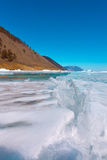 Growers ice iceberg in turquoise water of Lake Baikal Royalty Free Stock Photo