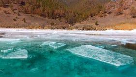 Growers ice iceberg in turquoise water of Lake Baikal Royalty Free Stock Image