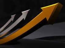 Growing arrows Stock Image