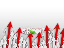 Growing Arrows Background Stock Images