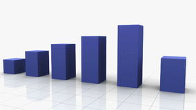 Growing Bar Graph BLUE stock video footage