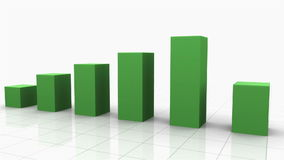 Growing Bar Graph GREEN stock video