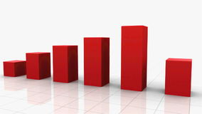 Growing Bar Graph RED stock video