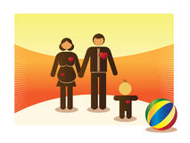 Growing basic family Stock Images