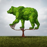 Growing Bear Market. And financial and negative investing failure concept as a tree shaped as a symbol for stock market loss and debt or conservative Stock Image