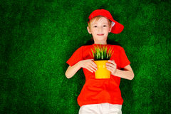 Growing boy Stock Photos