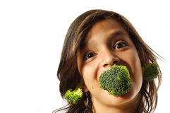 Growing Broccoli Stock Photo