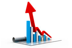 Growing business chart and graph Stock Photography