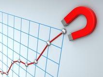 Growing business diagram Royalty Free Stock Photos